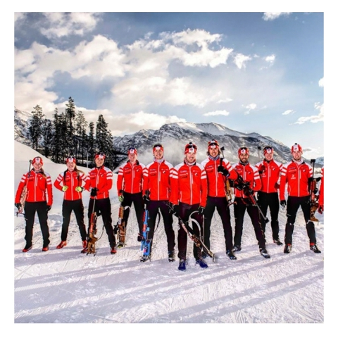 clothing collection for the Biathlon Olympic Canadian Team