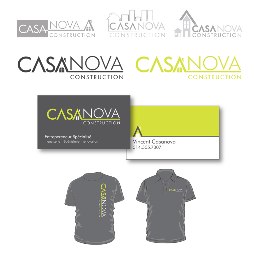 Design of a logo and a business card for a construction company
