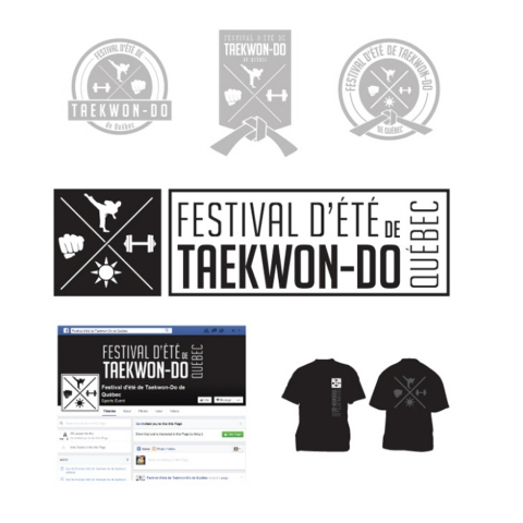 Design of a logo, a Facebook page and a t-shirt for a Taekwon-Do event