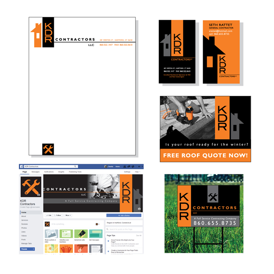 Design of various marketing material for a contracting company
