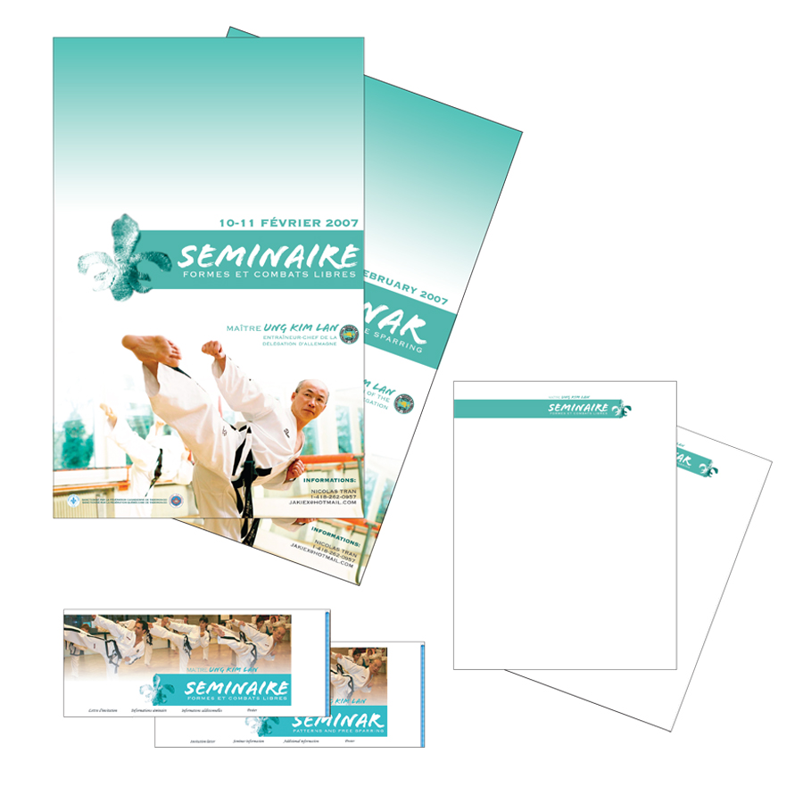 Design of various marketing material for a Taekwon-Do event