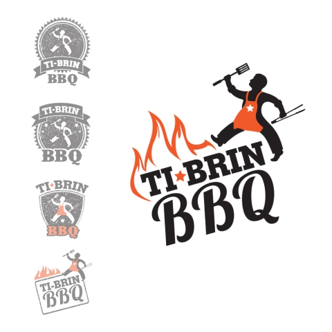 Design of a logo for a BBQ company