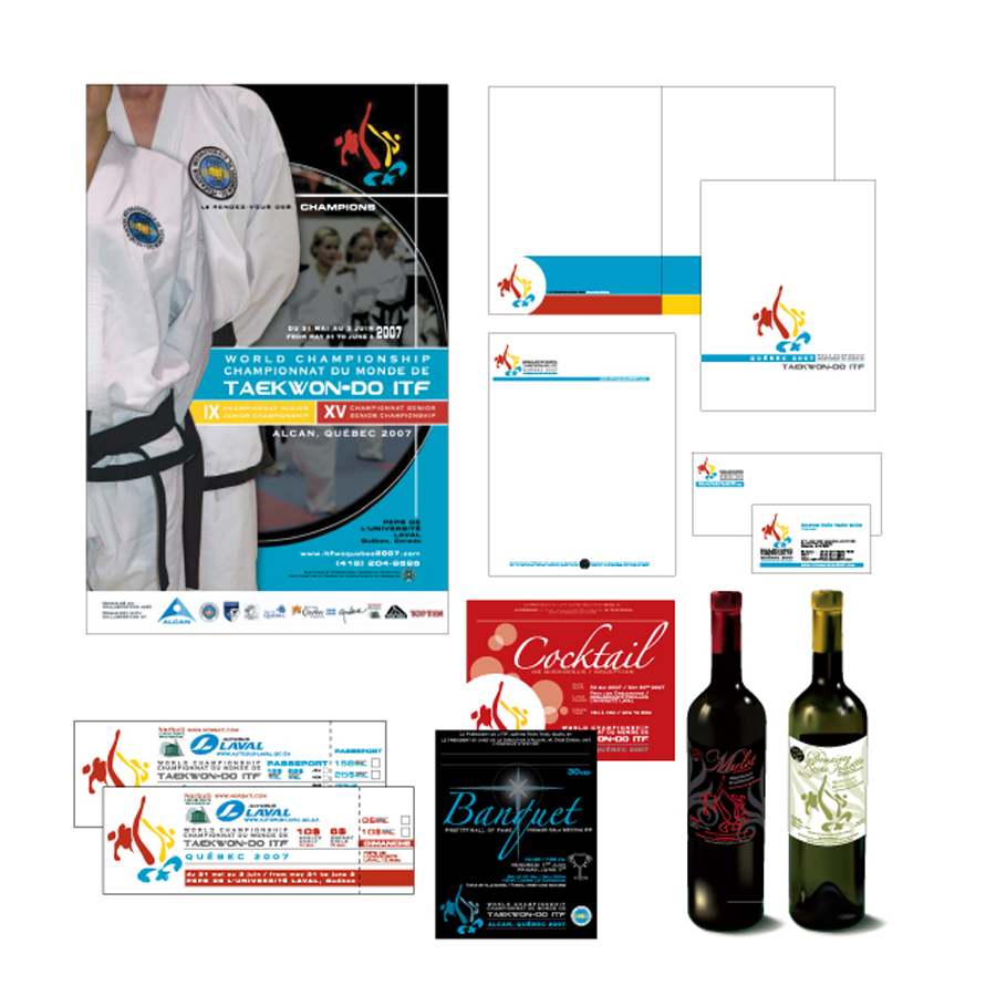 Design of various marketing material for Taekwon-Do international competition