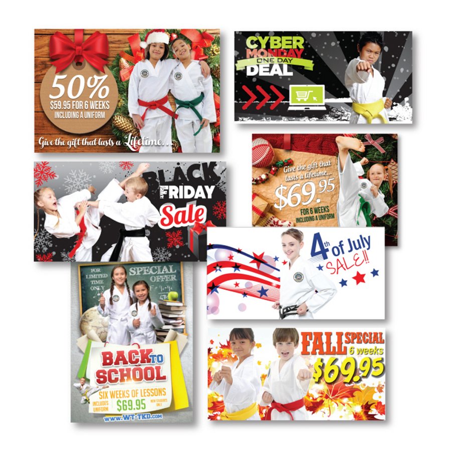 Design of all Facebook ads for our Taekwon-Do school